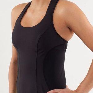 Lululemon cardio kick tank top in black size 2
